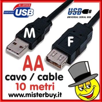 Prolunga USB 10 mt